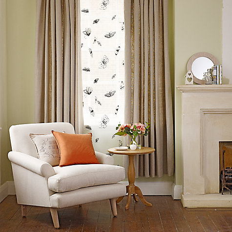 Buy John Lewis Plain Linen Lined Pencil Pleat Curtains, Natural Online at johnlewis.com