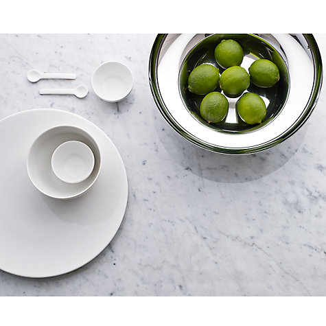 Buy John Lewis Concave Bone China Salt and Pepper Pinch Pots, Set of 2, White Online at johnlewis.com