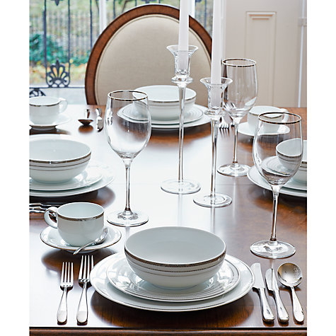 Buy John Lewis Glass Dinner Candle Holder, H25cm Online at johnlewis.com