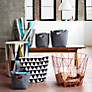 Buy ferm LIVING Wire Storage Basket, Medium, Rose Online at johnlewis.com