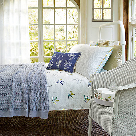 Buy John Lewis Fran Botanist Bed Frame, White, Double Online at johnlewis.com