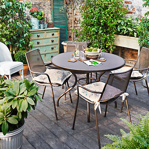Buy John Lewis Ala Mesh 4 Seater Outdoor Dining Set, Bronze Online at johnlewis.com