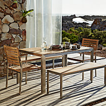 Buy John Lewis Homestead Rectangular 6 Seater Outdoor Dining Set Online at johnlewis.com