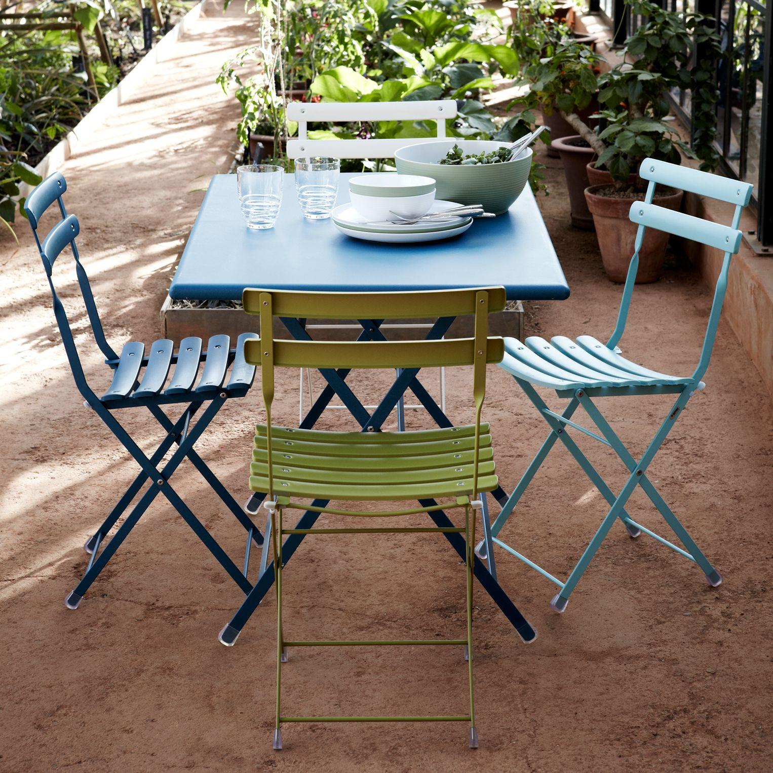EMU Arc En Ciel Outdoor Chairs, Set of 2, Blue