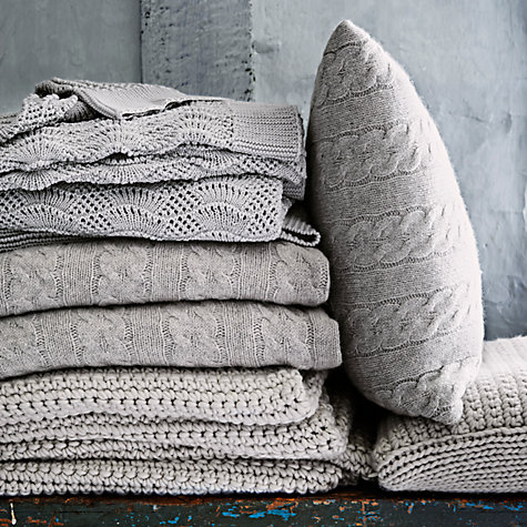 Buy John Lewis Croft Collection Flynn Ribbed Knit Cushion Online at johnlewis.com