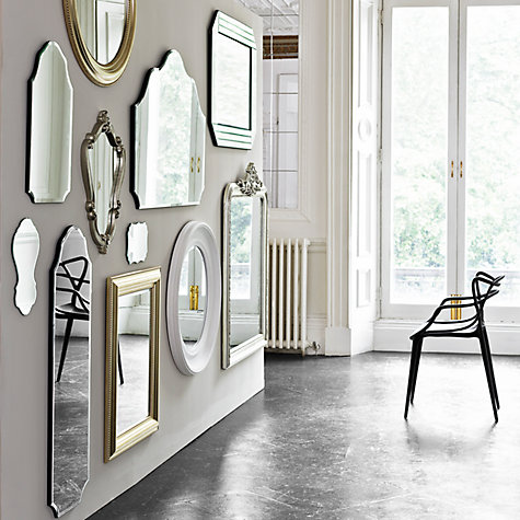 Buy John Lewis Bead Round Mirror, Champagne Online at johnlewis.com