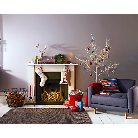 Buy John Lewis Felt Leaf and Berry Wreath, 33cm Online at johnlewis.com
