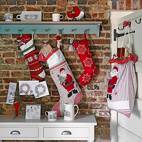 Buy Cambric & Cream Father Christmas Stocking Online at johnlewis.com