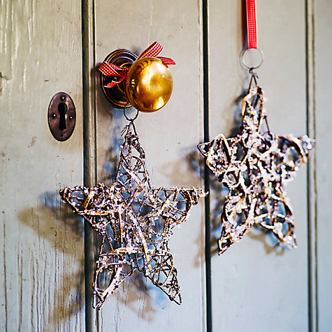 Buy John Lewis Glittered Twig Star Tree Decoration Online at johnlewis.com