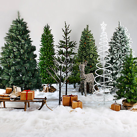 Buy John Lewis Fireside Christmas Tree, Green, 4ft Online at johnlewis.com