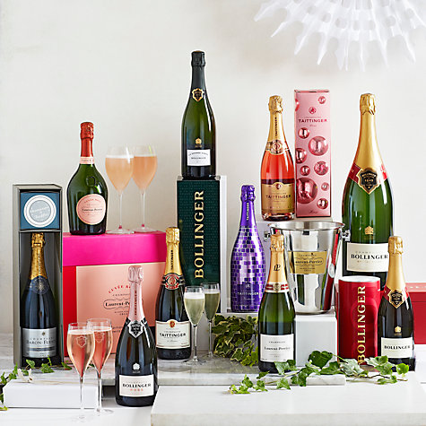 Buy Taittinger Brut NV Champagne & Glasses Gift Set, 75cl Online at johnlewis.com