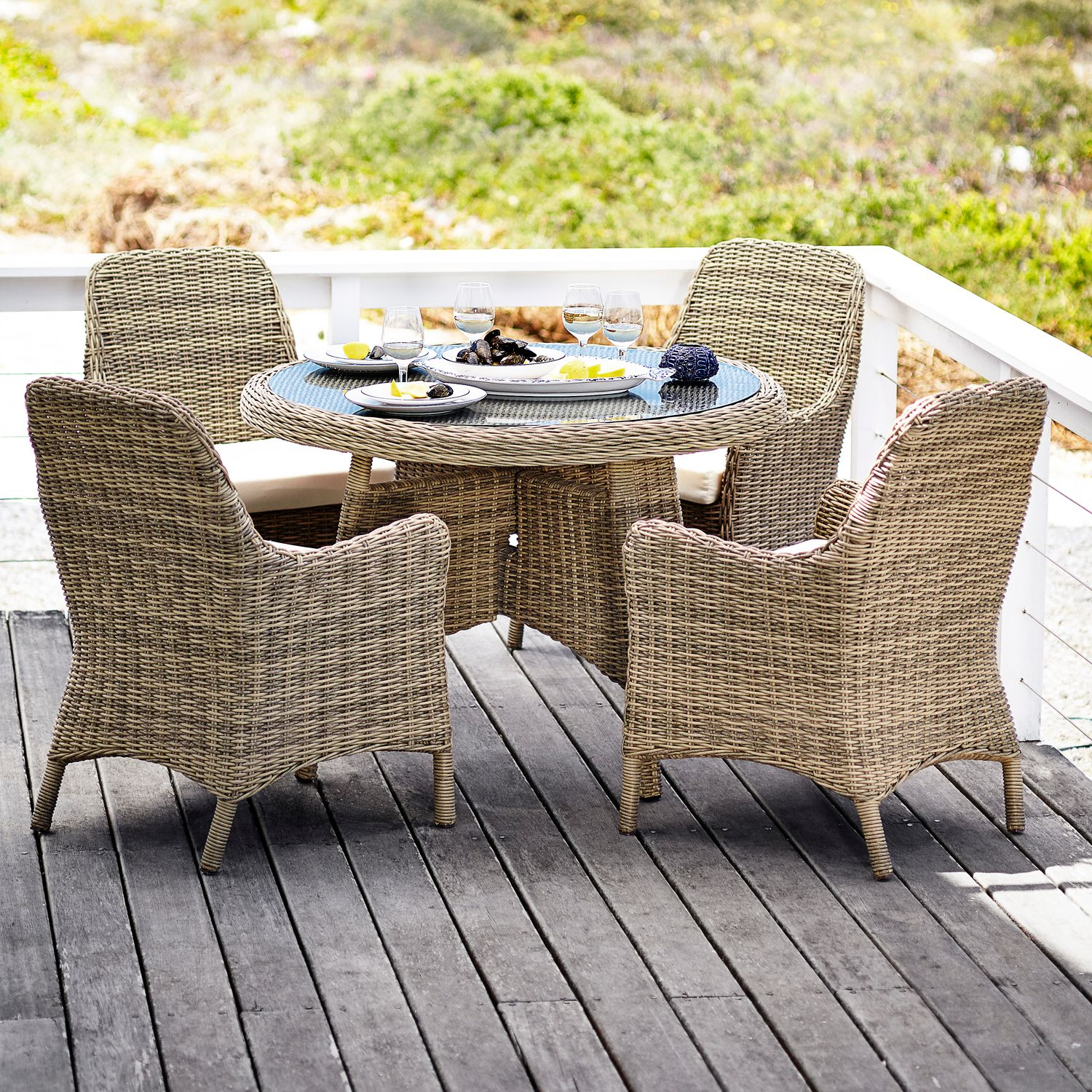John Lewis Rio 4 Seater Outdoor Dining Set