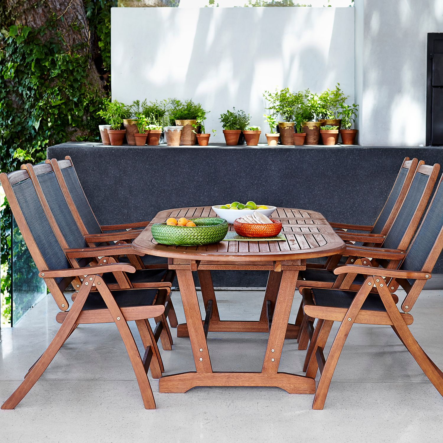 John Lewis Naples Outdoor 6-10 Seater Extending Dining Table