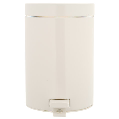 Buy Brabantia Pedal Bin, White, 3L Online at johnlewis.com