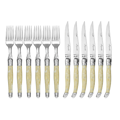Laguiole by Jean Dubost Steak Knives and Forks Set, 12 Piece