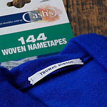Buy Cash's Name Tapes Quick Order Pack, 144 Online at johnlewis.com