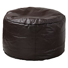 Buy John Lewis Leather Pouffe, Dark Brown Online at johnlewis.com