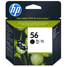 Buy HP 56 Inkjet Cartridge, Black, C6656A Online at johnlewis.com
