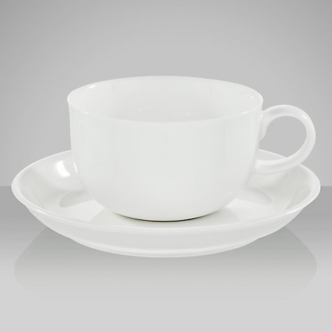 Buy Queensberry Hunt for John Lewis White Teacups and Saucers, Set of 4 Online at johnlewis.com