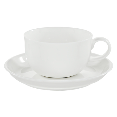 Queensberry Hunt for John Lewis White Bone China Tea Cups and Saucers, Set of 4