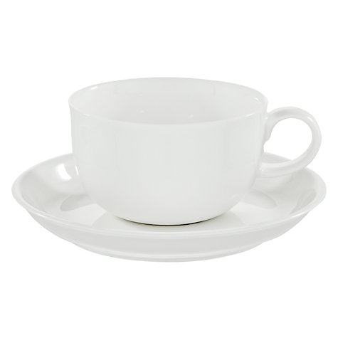 Buy Queensberry Hunt for John Lewis White Tea Cups and Saucers, Set of 4, White Online at johnlewis.com
