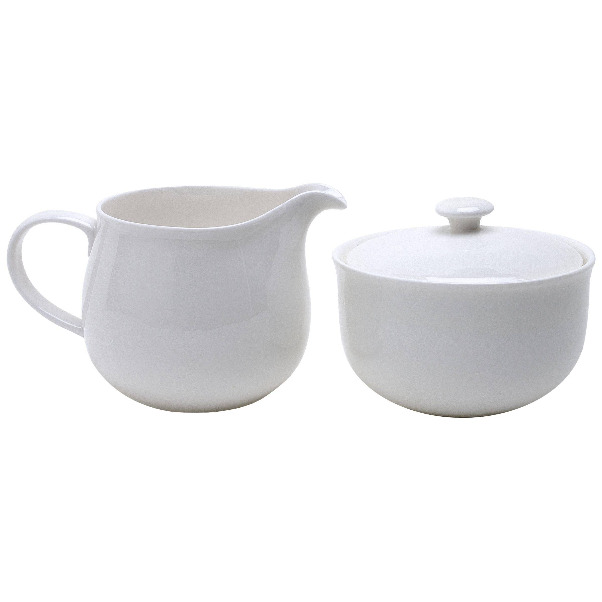 Queensberry Hunt for John Lewis White Cream Jug and Sugar Bowl