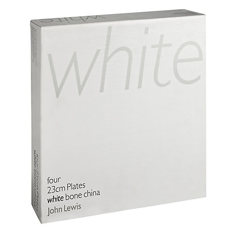 Buy Queensberry Hunt for John Lewis White Bone China Plates, Set of 4 Online at johnlewis.com
