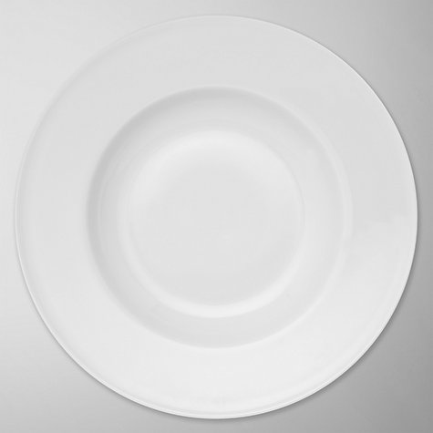 Buy Queensberry Hunt for John Lewis White Soup/Pasta Deep Plates, Dia.26cm, Set of 4 Online at johnlewis.com