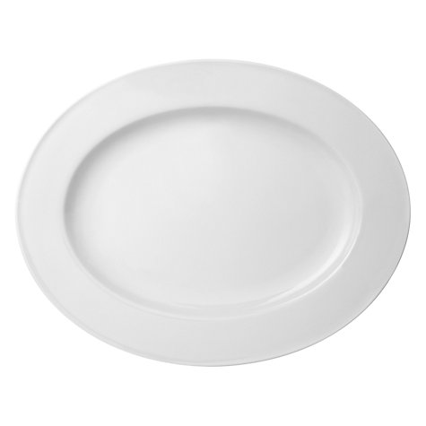 Buy Queensberry Hunt for John Lewis White Oval Platter, 36cm Online at johnlewis.com