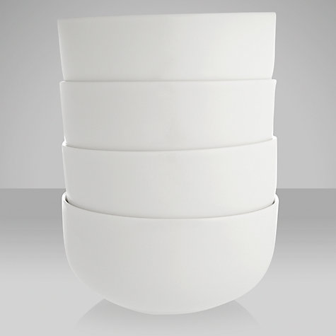 Buy Queensberry Hunt for John Lewis White Bowls, Dia.11cm, Set of 4 Online at johnlewis.com