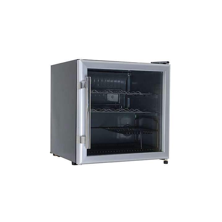 Buy Lec DF50GC Wine and Beer Fridge, Black/Silver Online at johnlewis.com