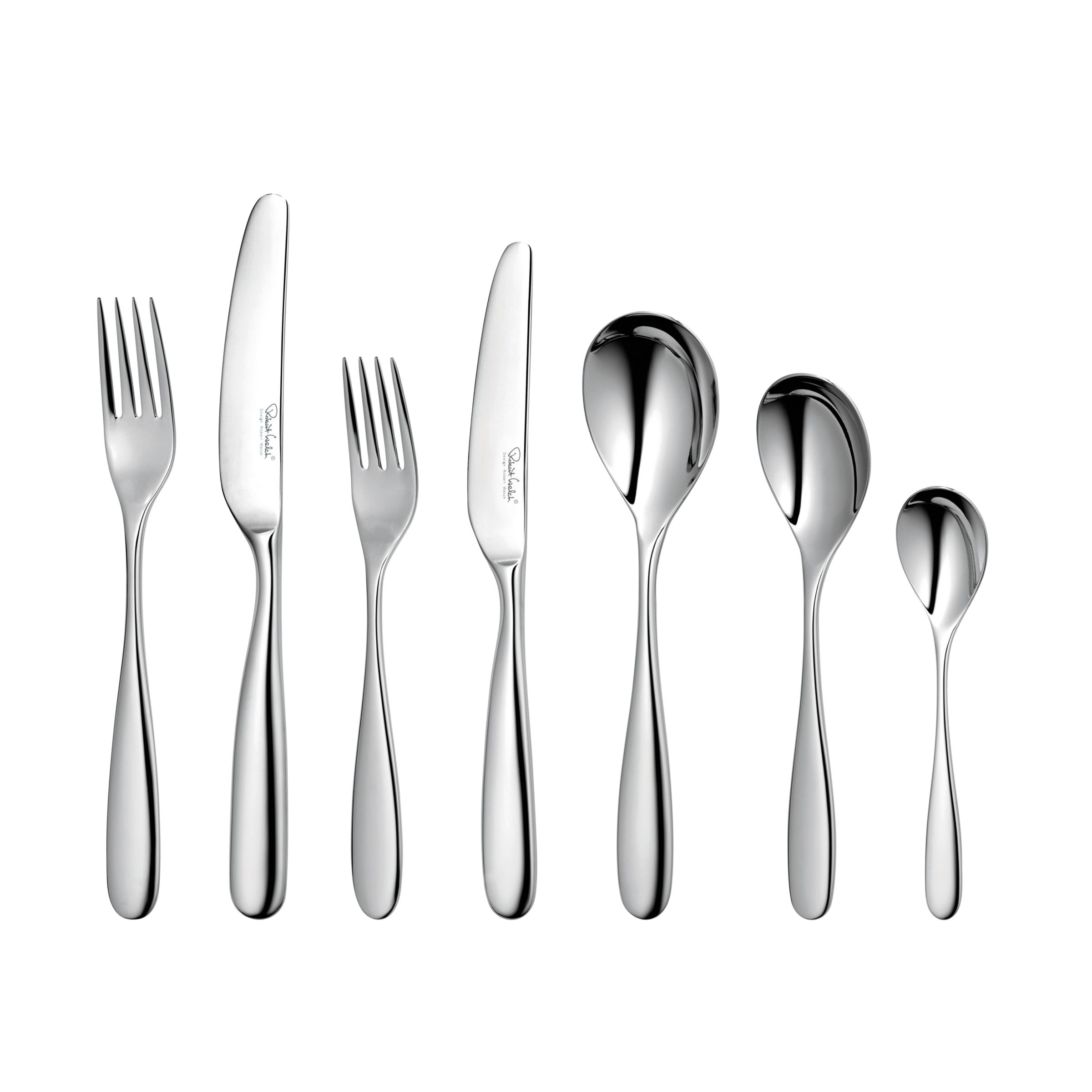 Robert Welch Stanton Cutlery Set, Stainless Steel, 44-Piece
