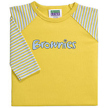 Buy Brownies Uniform Long Sleeve T-shirt, Yellow Online at johnlewis.com