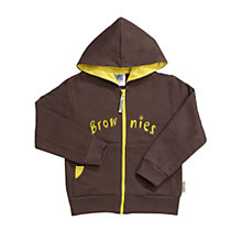 Buy Brownies Uniform Hooded Zipped Top, Brown Online at johnlewis.com