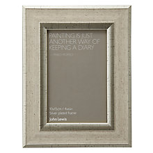 "Buy John Lewis Champagne Linen-Effect Photo Frame, 4 x 6"" (10 x 15cm) Online at johnlewis.com"