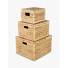 Buy Water Hyacinth Storage Boxes, Set of 3 Online at johnlewis.com