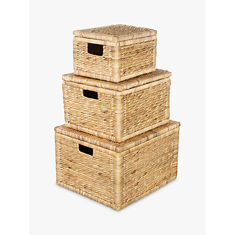 Buy John Lewis Water Hyacinth Storage Boxes, Set of 3 Online at johnlewis.com