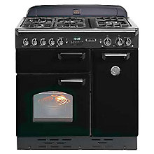 Buy Rangemaster Classic 90 Dual Fuel Range Cooker, Black/Chrome Trim Online at johnlewis.com