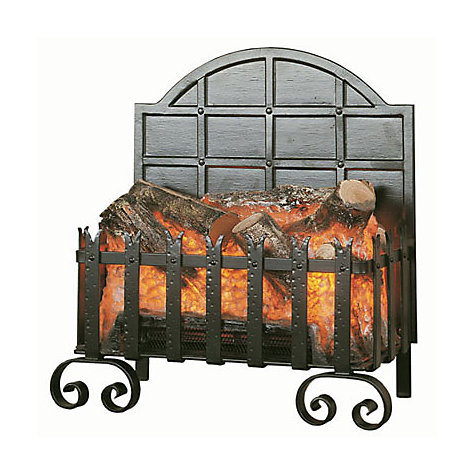 Buy Burley Fuel-Effect Electric Fire, Lyddington Forge 101, Black Online at johnlewis.com