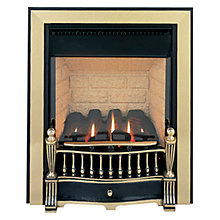 Buy Burley Flueless Gas Fire, Environ 4240, Brass and Black Online at johnlewis.com