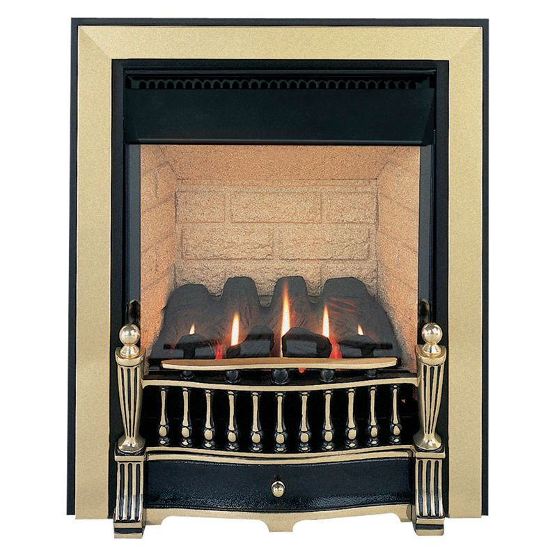 Burley Flueless Gas Fire, Environ 4240, Brass and Black