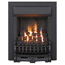 Buy Burley Flued Gas Fire, Kingston 5734, Black Online at johnlewis.com