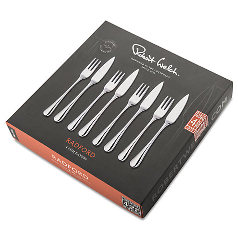 Buy Robert Welch Radford Fish Eaters Forks and Knives, 8 Piece Online at johnlewis.com