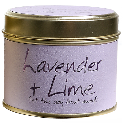 Lily-Flame Lavender and Lime Candle in a Tin