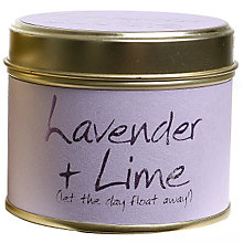 Buy Lily-Flame Lavender and Lime Candle in a Tin Online at johnlewis.com