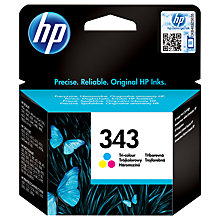 Buy HP 343 Inkjet Cartridge, Colour, C8766EE Online at johnlewis.com
