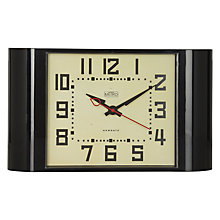 Buy Newgate Metro Wall Clock, H26 x W45cm, Black Online at johnlewis.com