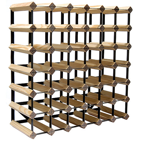 Buy RTA Winestak 42 Bottle Wine Rack, Pine and Black Steel Online at johnlewis.com