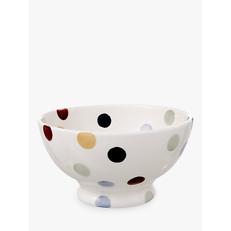 Buy Emma Bridgewater Polka Dot French Bowl, Multi, Dia.13.5cm Online at johnlewis.com