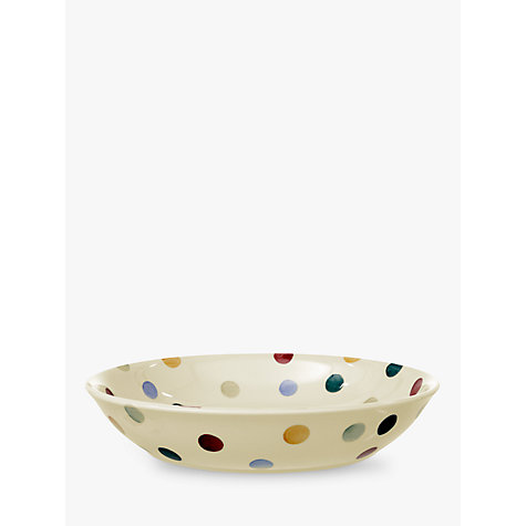 Buy Emma Bridgewater Polka Dot Pasta Bowl, Multi, Dia.23.5cm Online at johnlewis.com